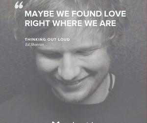 song, ed sheeran, and thinking out loud image