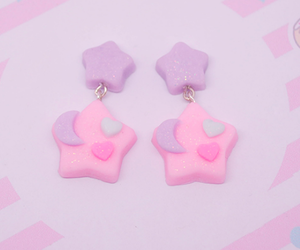 cute, beautiful, and earrings image