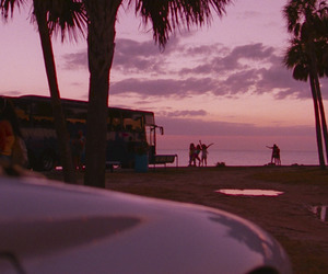 beach, spring breakers, and pink image