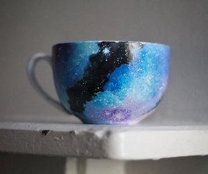 boho, coffee, and galaxy image