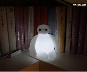 baymax, light, and disney image