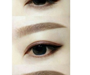 asian, eyebrows, and eyeshadow image