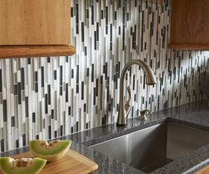 kitchen backsplash ideas, backsplash tile, and glass tile backsplash image