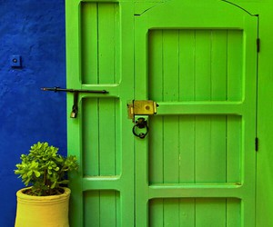 bright colors, spring, and door image