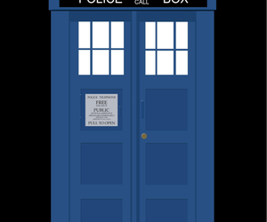 police box, doctor who, and wallpaper image