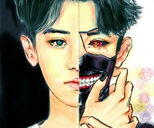 fanart, chanyeol, and tokyo ghoul image