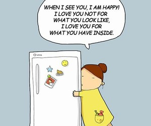love, food, and fridge image