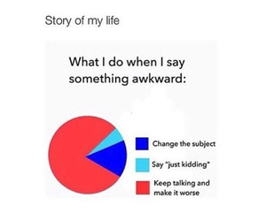 awkward, funny, and life image