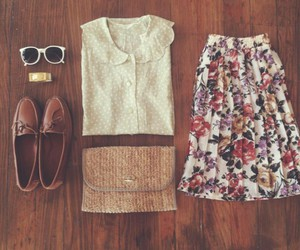 casual, girl, and fashion image