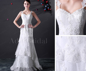 wedding dress, sheath wedding dress, and adasbridal image