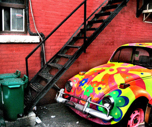 car and colorful image