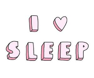 sleep, love, and pink image