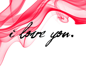 red, love, and typography image