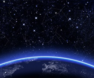 stars, world, and space image