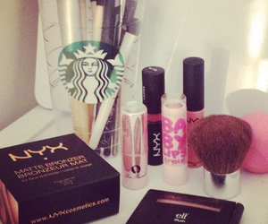 Brushes, makeup, and NYX image