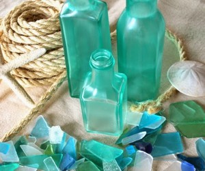 old glass bottles, recycled glass bottles, and bottles decor ideas image