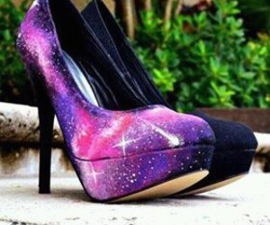 galaxy, girl, and shoes image