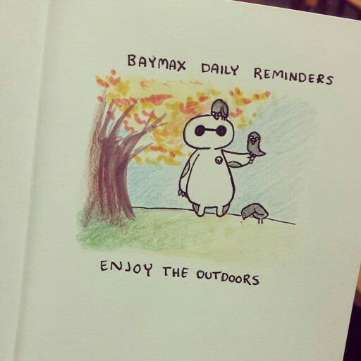 baymax daily reminders uploaded by plunupuǟ on we heart it