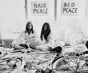 john lennon, Yoko Ono, and peace image