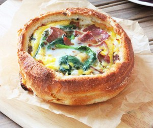 spinach, bacon, and breakfast image