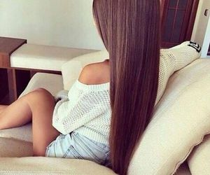 brunette, extensions, and fashion image
