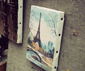paris, art, and eiffel tower image