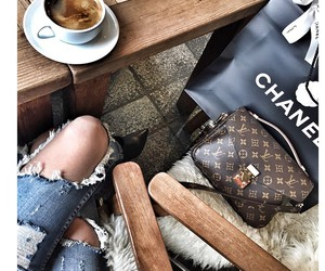 chanel, fashion, and coffee image