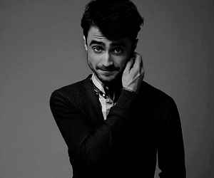 daniel radcliffe, actor, and black and white image