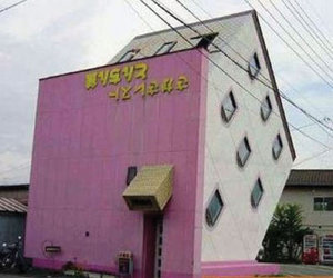 house, pink, and japan image