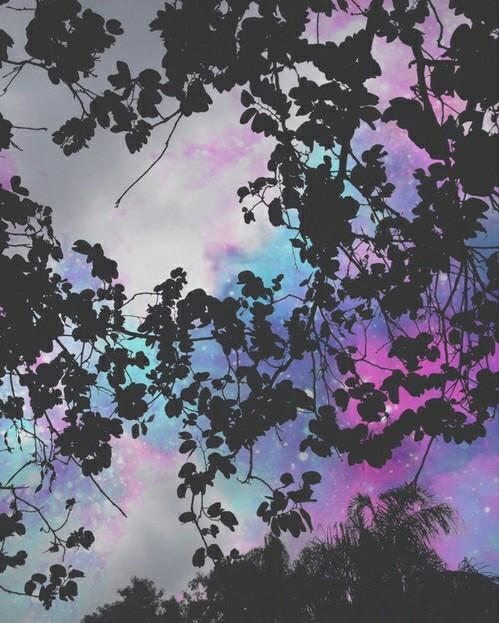 wallpaper, sky, and purple image