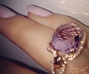 ring, nails, and pink image