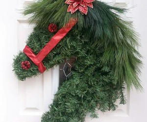 christmas, head, and horse image