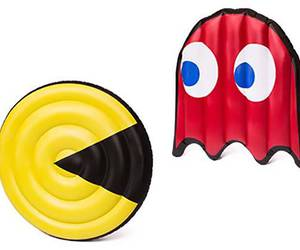 pac-man, pool float, and pool floats image