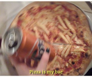 pizza, grunge, and bae image