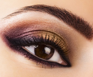 makeup, brown, and eye image