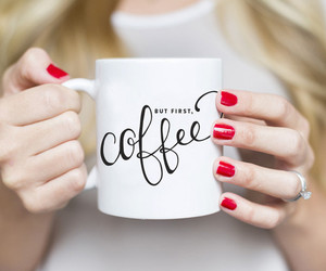 coffee, red, and nails image