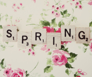 spring, flowers, and scrabble image