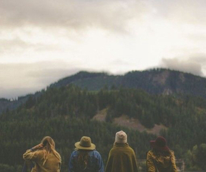 hipster, friends, and nature image