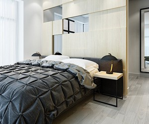 bed, bedroom, and black image
