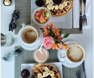 breakfast, pancakes, and delicious image