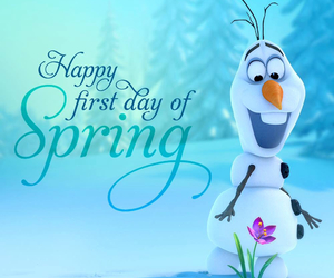 spring, olaf, and frozen image