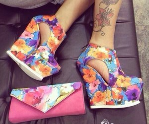 color, flowers, and shoes image