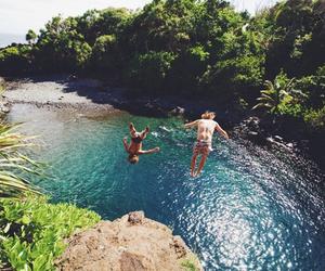 summer, beach, and jump image