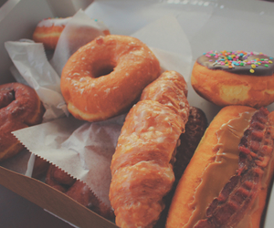 breakfast, donut, and food image