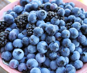 blueberries, fruit, and blackberries image