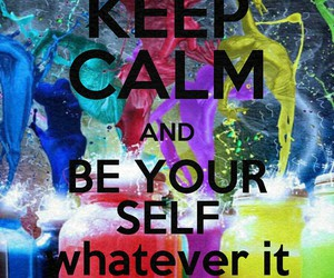 be, calm, and keep image
