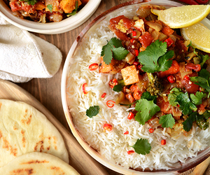 spicy and healthy food image