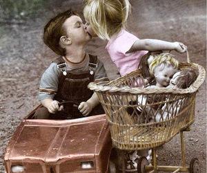 boy, kiss, and girl image