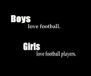 girl, boy, and football image