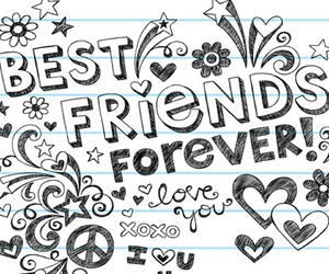 bff, friends, and Best image